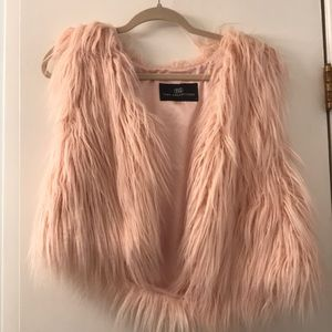 Pink Faux Fur Tart Collection Vest